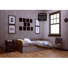 Кровать Вальс 900мм с ящиками