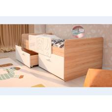 Детская кровать Умка-2 Белый глянец с ограничителем