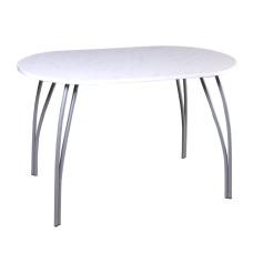 Стол обеденный на металлической опоре