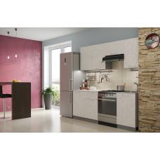 Кухня Бетон белый 2.1м