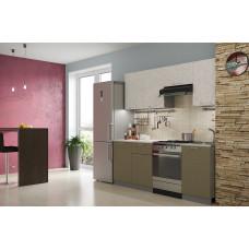 Кухня Бетон белый/коричневый 2.1м