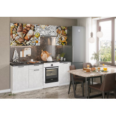 Кухня с фотопечатью Ice Cream Choko белый 2.1