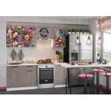 Кухня с фотопечатью Ice Cream Pink коричневый 2.1