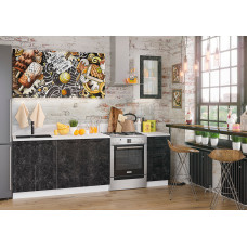 Кухня с фотопечатью Ice Cream Choko черный 1.8м