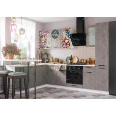 Кухня Бетон коричневый с фотопечатью 2,8х2,2м