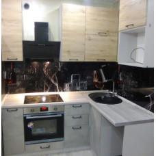 Кухня ЛОФТ с высокими шкафами 1900*1450мм