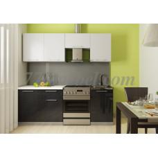 Кухня Oli белый/черный 2,1м
