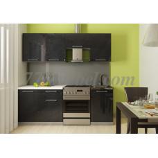 Кухня Oli черный металлик 2,1м