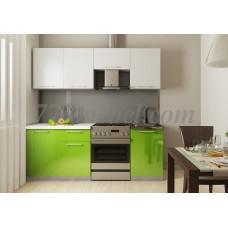 Кухня Oli белый/салатовый 2,1м