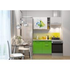 Кухня Олива мини 1.6м Лайм