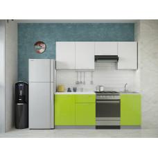 Кухня Oli белый/лайм глянец 2,1м