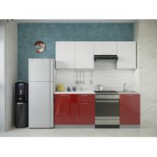 Кухня Oli белый/рубин глянец 2,1м