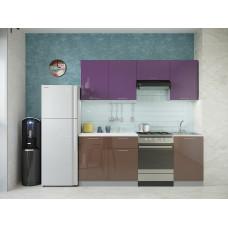 Кухня Oli фиолетовый/шоколад глянец 2,1м