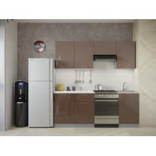 Кухня Oli кофе с молоком/шоколад глянец 2,1м