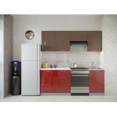 Кухня Oli шоколад/рубин глянец 2,1м