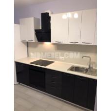 Кухня OLI белый металлик/черный металлик 2500мм