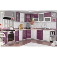 Кухня OLI белый/сирень угловая 2,45х2,65м