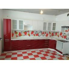 Кухня OLI белый/ гранат 3,95*1,65м