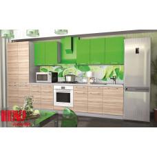 Кухня OLI зеленая/дуб сонома 3300мм
