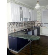 Кухня Гарда 3300мм с высокими шкафами и барной стойкой
