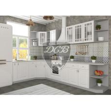 Кухня Гранд белый угловая