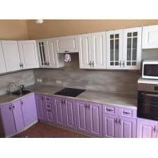 Кухня Гранд крем/фиалка 1400х3600мм
