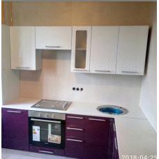 Кухня Капля белый/баклажан 2400*1400мм