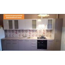 Кухня Капля белый/капучино 3700мм
