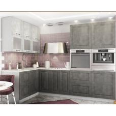 Кухня Капри камень темный/камень светлый 1700*2800мм