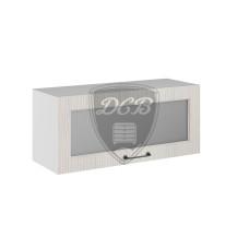 Шкаф верхний высокий Капри горизонтальный стекло 800