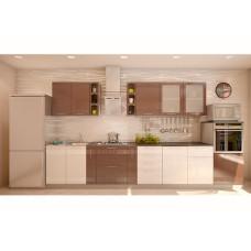 Кухня Мокко 3900мм белый/шоколад