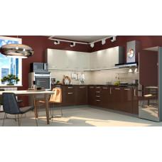 Кухня Виста ваниль/горький шоколад 2700*2600мм