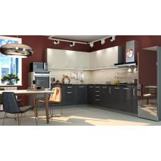 Кухня Виста ваниль/дым 2700*2600мм
