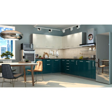 Кухня Виста ваниль/океан 2700*2600мм