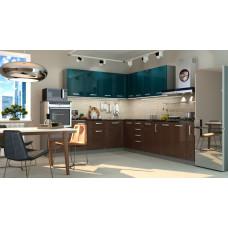 Кухня Виста океан/горький шоколад 2700*2600 мм