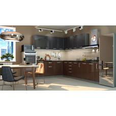 Кухня Виста дым/горький шоколад 2700*2600мм