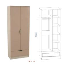 МС Клео шкаф распашной с ящиком